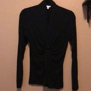 Cabi Long Sleeve Twisted Front Top